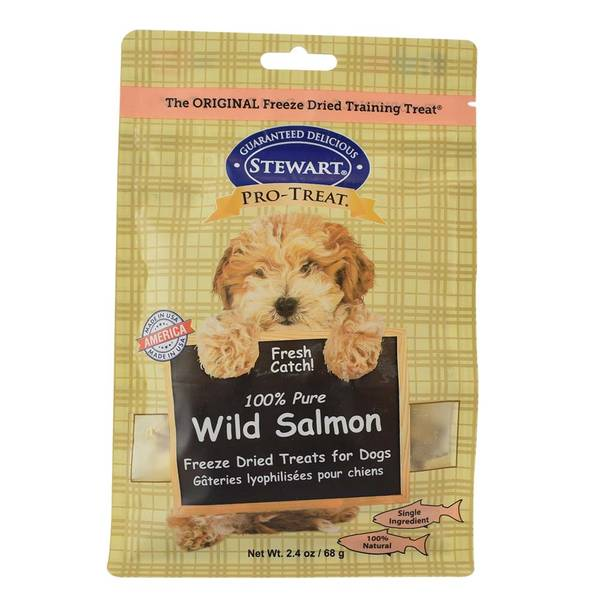 100% Pure Wild Salmon Freeze Dried Treats for Dogs