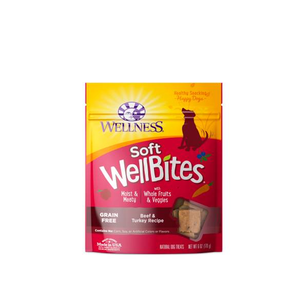 6 oz Wellbites Beef & Turkey Dog Treats
