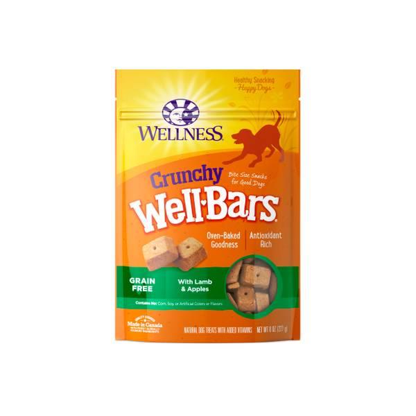 8 oz Wellbars Lamb & Apples Dog Treats