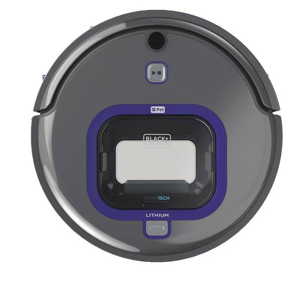 Black Amp Decker Smartech Robotic Pet Vacuum