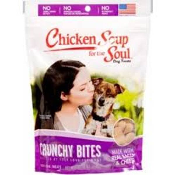 12 oz. Crunchy Bites Bacon & Cheese Dog Treats