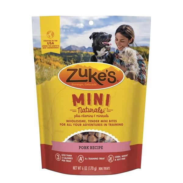 6 oz Zukes Mini Naturals Moist Pork Dog Treats