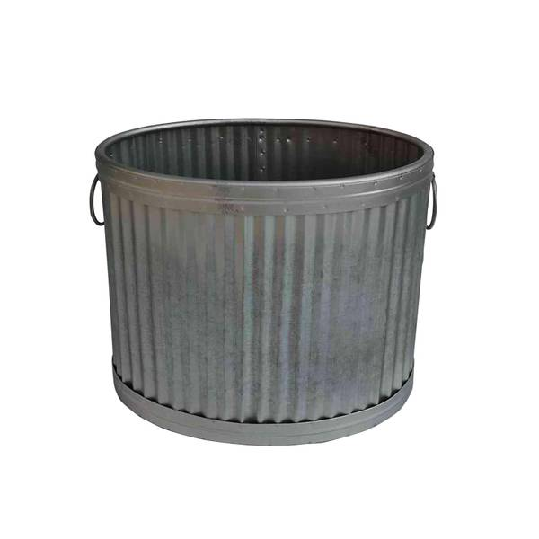 "14.25"" Galvanized Wash Tub Planter"