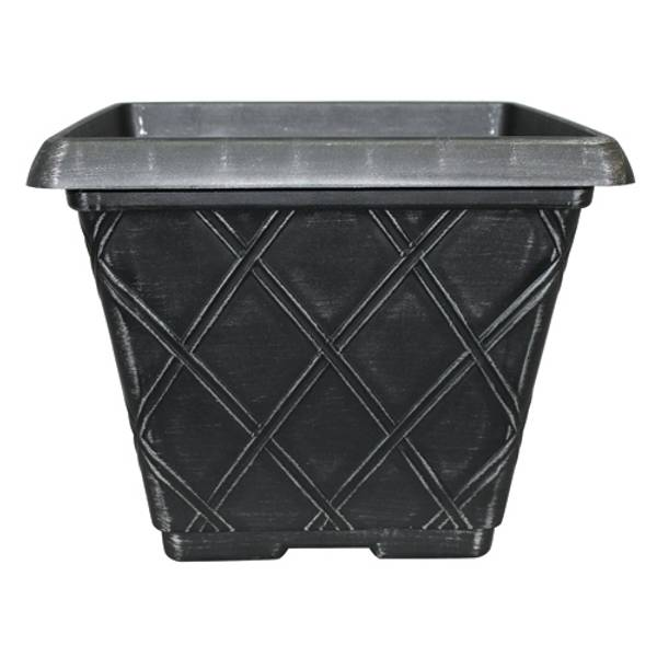 "16"" Lattice Bell Square Planter"