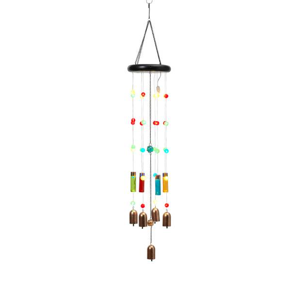 Solar Glass & Beads Wind Chime Assortment