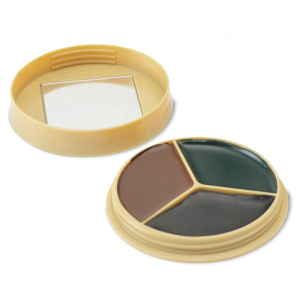 HME 3 Color Camouflage Face Paint Kit with Mirror thumbnail