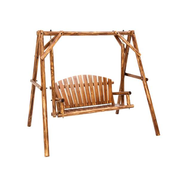Jack Post Toasted Log Bench Swing and Frame