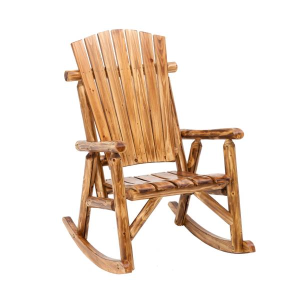 Superb Toasted Log Oversized Rocking Chair