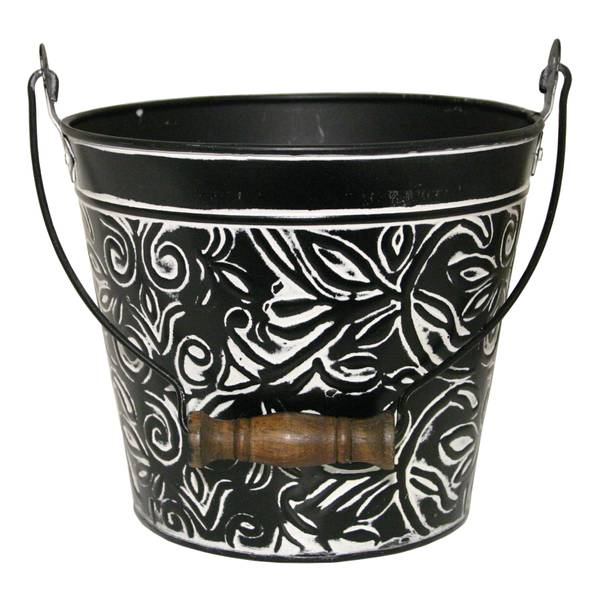 "8"" Floral Pail with Handle"