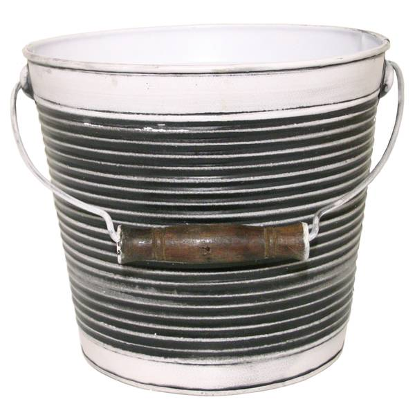 "10"" Ribbed Pail with Handle"