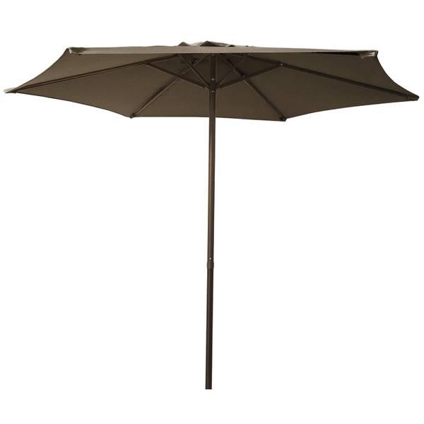 7.5' Taupe Steel Market Umbrella