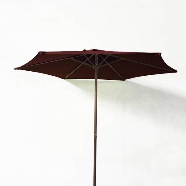 7.5' Burgundy Steel Market Umbrella