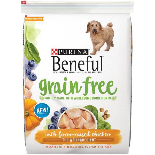 12.5 lb Beneful Grain Free Farm Raised Chicken Dog Food