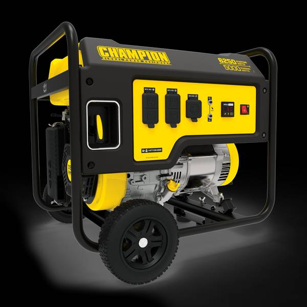 5000-Watt Portable Generator with Wheel Kit