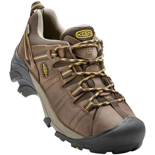 Men's Cascade Brown & Golden Yellow Targhee II Hiking Shoes