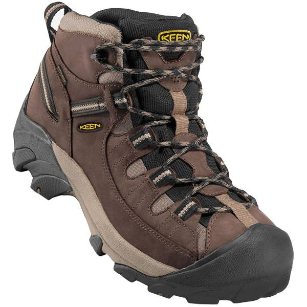 Men's Shiitake & Brindle Targhee II Waterproof Mid Wide Hiking Boots
