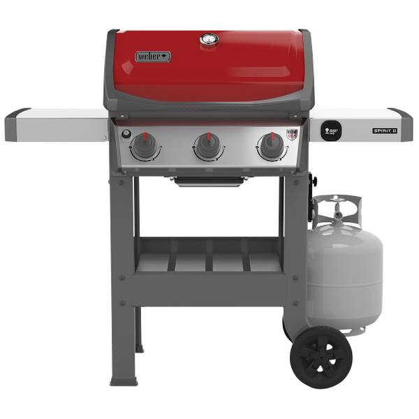 weber spirit ii red e 310 lp 3 burner gas grill. Black Bedroom Furniture Sets. Home Design Ideas