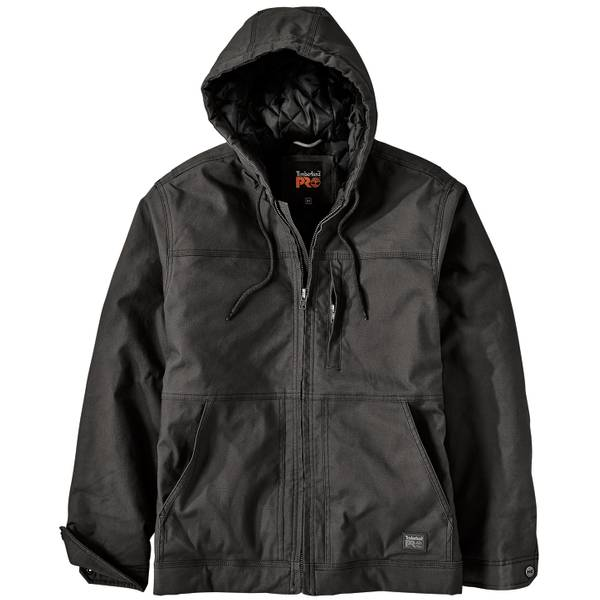 Men's Baluster Hooded Insulated Canvas Work Jacket