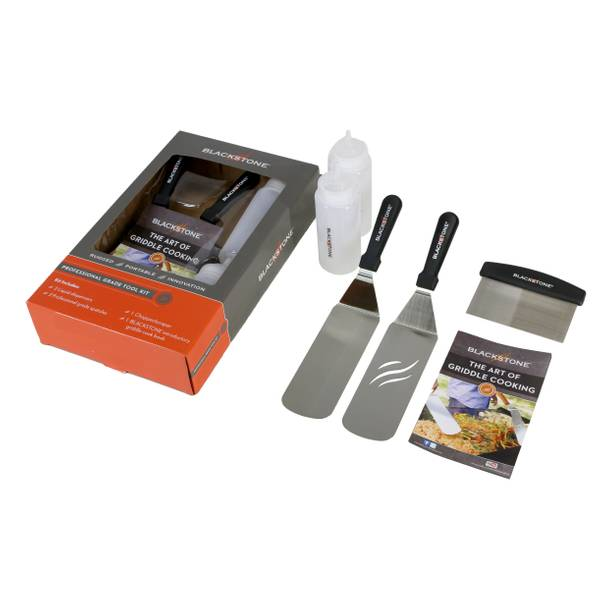 Grill and Griddle Spatula Set Frying Professional Dispensers Pan Accessory Kit