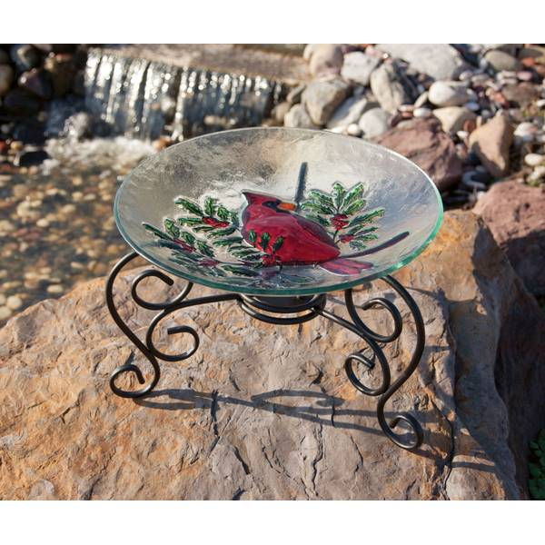 Scroll Table Top Bird Bath Stand