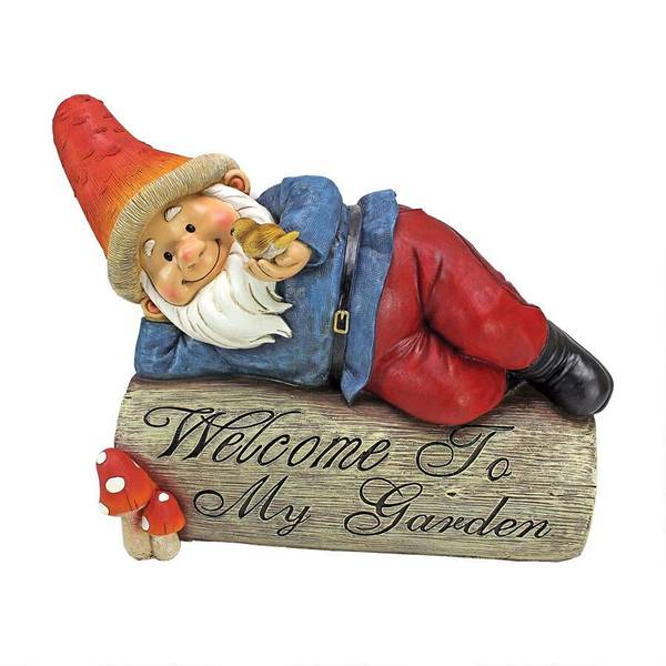 Gideon the Garden Gnome Welcome Statue