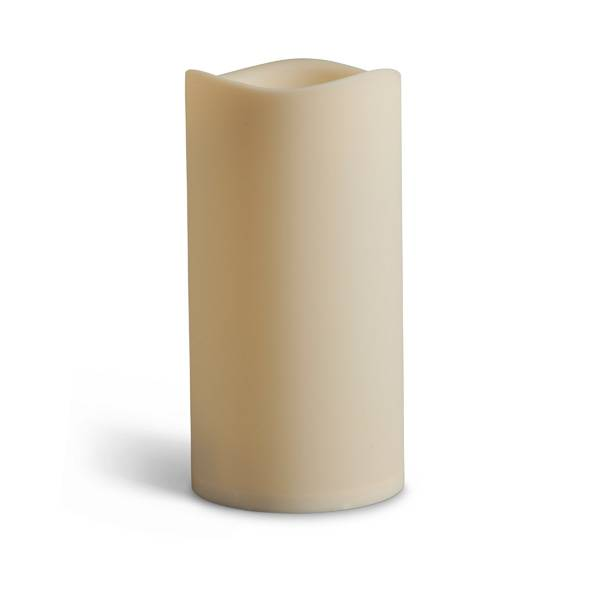 "6""x9"" Resin Indoor/Outdoor LED Pillar Candle"
