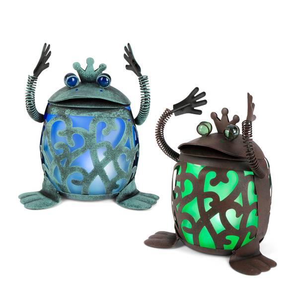 Solar Metal Frog Assortment
