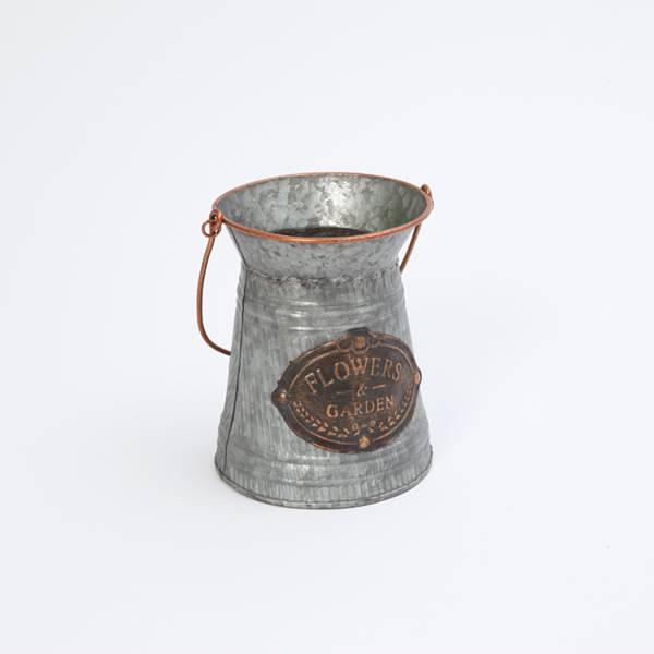 Copper Finish Metal Antique Bucket Medallion