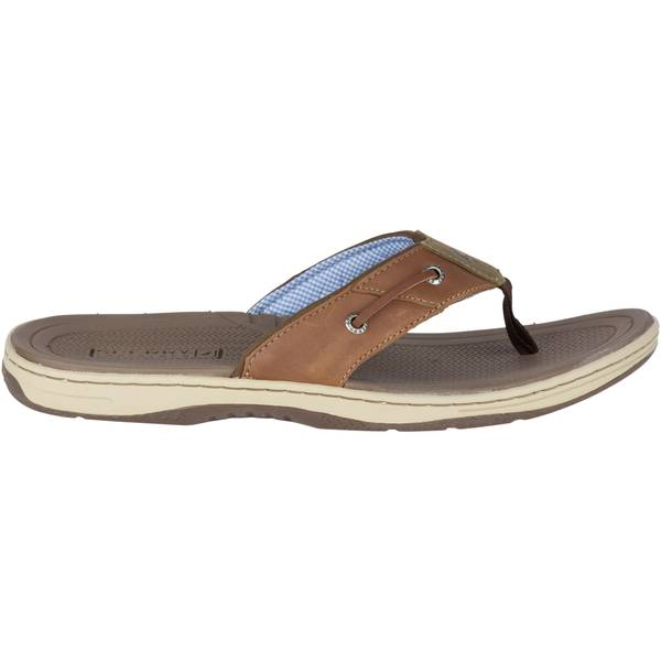 Men's Tan Leather Baitfish Flip-Flops