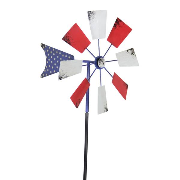 Small Patriotic Windmill Garden Stake