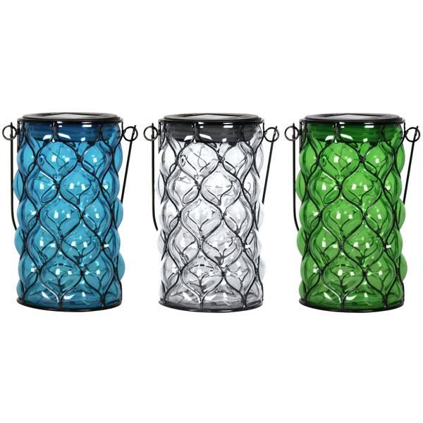Cylinder Shaped Solar Glass Lantern