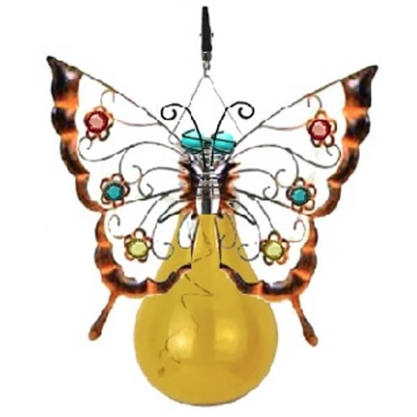 Solar Butterfly Umbrella Clip