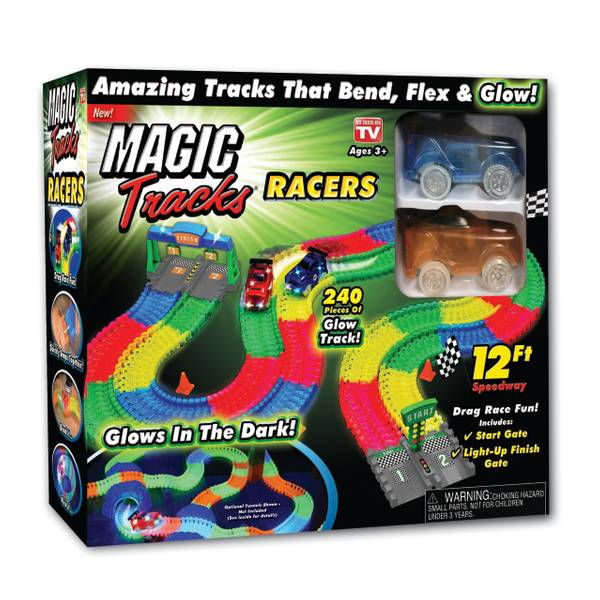 as seen on tv magic tracks racers set. Black Bedroom Furniture Sets. Home Design Ideas