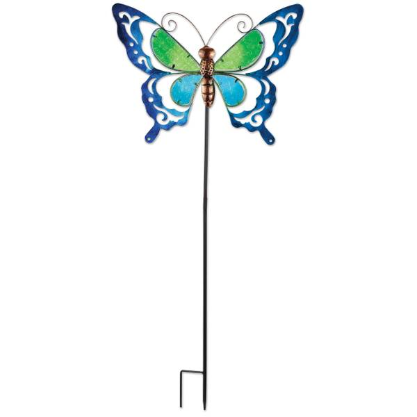 """38"""" Blue Butterfly Spring Stake"""