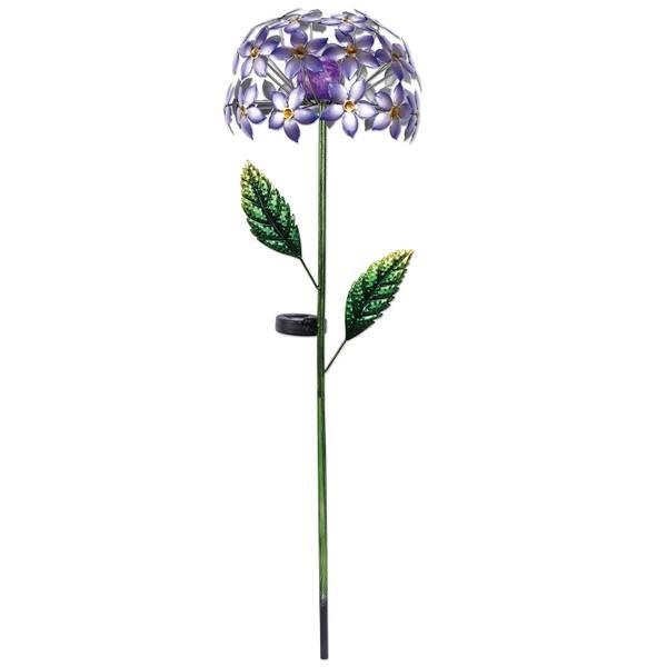 Purple Hydrangea Solar Stake