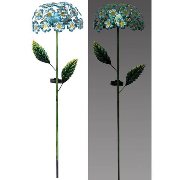 Blue Hydrangea Solar Stake