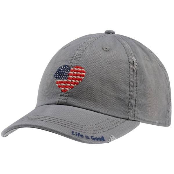 Misses Flag Hearts Sunwashed Chill Cap