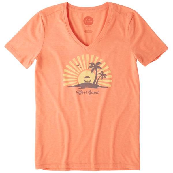 Misses Celestial Shine Short Sleeve Cool V-Neck Top