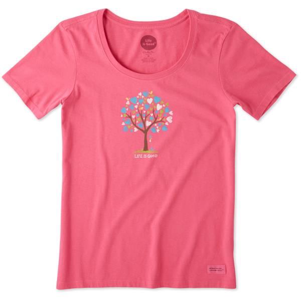 Women's Love Tree Short Sleeve Crusher Scoop Neck Top