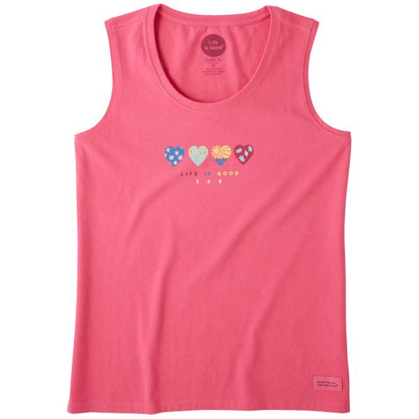 Misses 365 Pink Sleeveless Crusher Tanktop