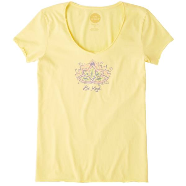 Misses Be Kind Lotus Short Sleeve Smooth Tee