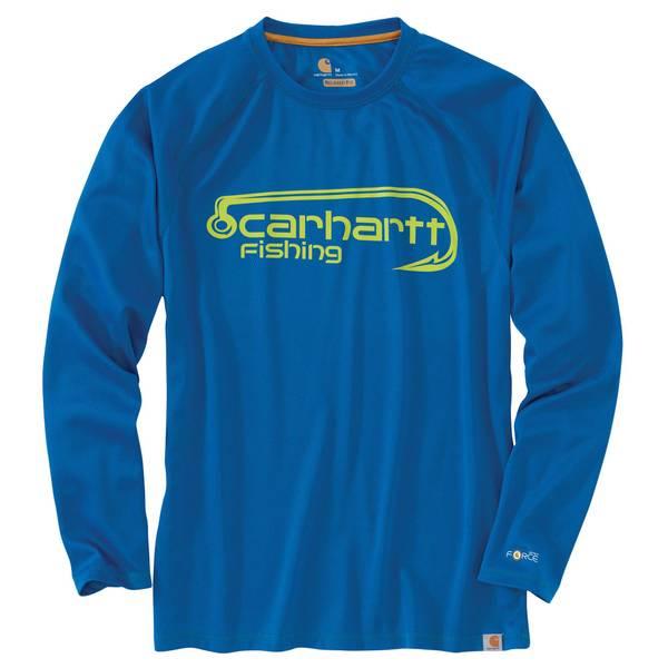 8dbec433 Carhartt Force Men's Federal Blue Long Sleeve Hook Tee