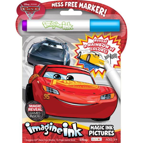 Cars 3 Imagine Ink Book