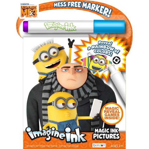 Despicable Me 3 Imagine Ink Book