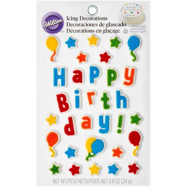 Wilton Kids Birthday Edible Cake Topper Decorating Kit
