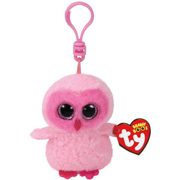 Ty Beanie Boo Clip Twiggy the Pink Owl 81de9e9fcda