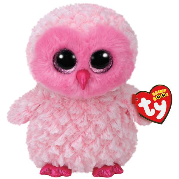 Beanie Boo Med Twiggy the Pink Owl