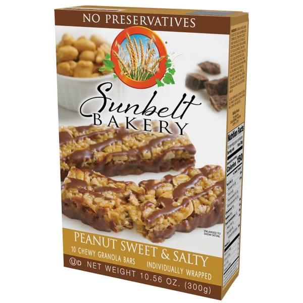 Sweet & Salty Peanut Granola Bars