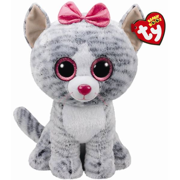Beanie Boo Large Kiki The Gray Cat
