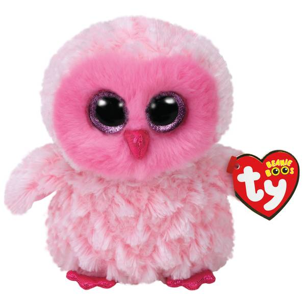 Beanie Boo Large Twiggy The Pink Owl